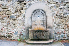Rill in antique  wall. Rill in antique stone wall Stock Photos