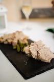 Rillettes χοιρινού κρέατος με τα cornichons Στοκ Εικόνες
