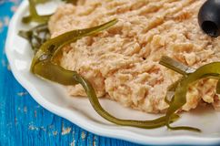 Rillettes from trout. Similar to pate stock photography