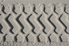 Rills in the sand. Car rills in the sand Royalty Free Stock Photos