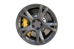 Rim. Modern metal wheel rim texture isolated on white Royalty Free Stock Photography