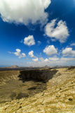 The rim of Caldera Blanca Stock Photo