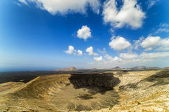 The rim of Caldera Blanca Royalty Free Stock Photo