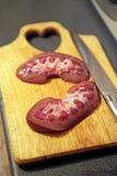 Rim cortado da carne de porco Imagens de Stock