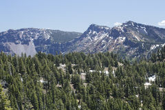 The Rim of Crater Lake. A photo of part of the rim of Crater Lake in Southern Oregon Stock Images