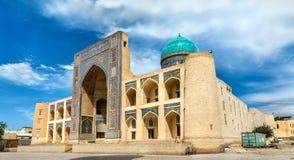 RIM-eu árabe Madrasa no complexo da probabilidade de intercepção Kalyan em Bukhara, Usbequistão fotografia de stock