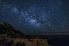 Rim Grand Canyon Milky Way du nord Image stock