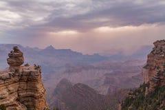 Rim Grand Canyon Monsoon Storm sul foto de stock royalty free