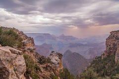 Rim Grand Canyon Monsoon sul fotos de stock