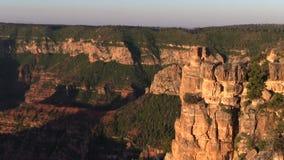 Rim Grand Canyon Pan del norte escénico metrajes