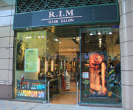 Rim Hair salong i Hong Kong Royaltyfri Bild