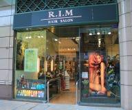 Rim Hair salong i Hong Kong Royaltyfri Bild