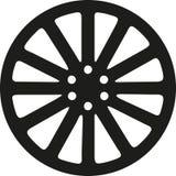 Rim icon car. Wheel tire Royalty Free Stock Photography