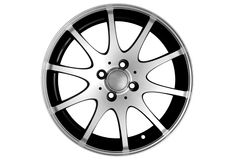 Rim isolated. Photo of silver car rim, isolated Royalty Free Stock Photography