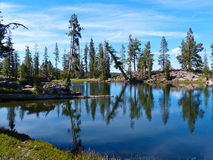 Rim Lake. Caribou Wilderness, Northern California Royalty Free Stock Photography