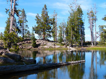 Rim Lake. Caribou Wilderness, Northern California Royalty Free Stock Images