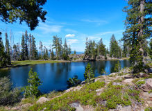 Rim Lake. Caribou Wilderness, Northern California Stock Photo