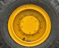 Rim of a large wheel tractor. Wheel drive large wheeled all-terrain vehicle Royalty Free Stock Photos