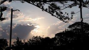 Rim Lit Clouds stock video