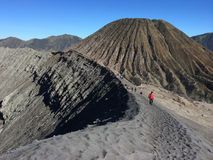 On the rim of Mount Bromo Crater, East Java, Indonesia Royalty Free Stock Image