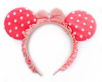 Rim with mouse ears. On gray background royalty free stock photos