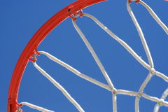 Rim & Net. Quarter shot of a basketball rim with net Royalty Free Stock Photography