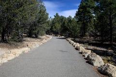 Rim Trail en Grand Canyon Imagen de archivo