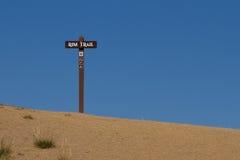 Rim Trail Sign Imagem de Stock