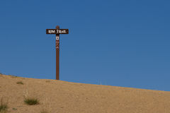 Rim Trail Sign Stock Image