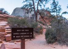 Rim Trail Sign occidental image libre de droits