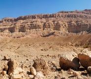 Rim wall of the desert canyon Royalty Free Stock Photos