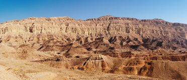 Rim wall of the Small Crater in desert, Israel Royalty Free Stock Image