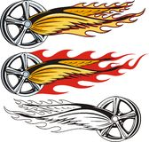Rim With Flaming Wings Royalty Free Stock Photo