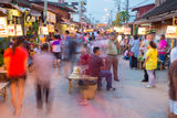 Rim Yom Night Market Sukhothai Stock Image
