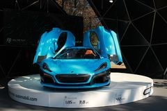 Rimac CTWO electric car royalty free stock photography