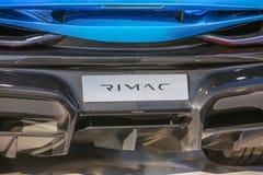 Rimac hypercar C两 免版税库存照片