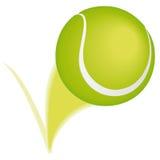 Rimbalzo della sfera di tennis Immagine Stock