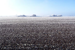 Rime frost landscape at Havelland field Brandenburg - Germany Stock Photography