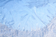 Rime on frosted window glass Stock Images
