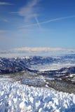 Rime macio e Mt. Iide em Japão Fotos de Stock Royalty Free