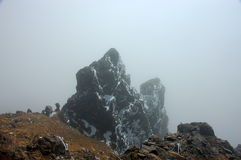 The rime stone, Ecuador Andes. Royalty Free Stock Photo