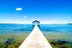 Rimessa per imbarcazioni del bordo di Crawley, fiume del cigno, Perth, Australia occidentale Fotografia Stock Libera da Diritti