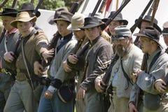 Rimessa in vigore 15 di guerra civile - soldato confederato Immagini Stock Libere da Diritti