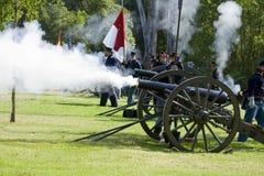 Rimessa in vigore 21 di guerra civile - artiglieria del sindacato Immagini Stock Libere da Diritti