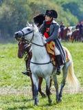 Rimessa in vigore della battaglia di Borodino fra Russo fotografie stock libere da diritti
