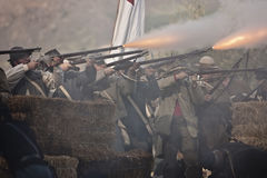Rimessa in vigore della guerra civile di Moorpark Fotografie Stock Libere da Diritti