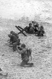 Rimessa in vigore della seconda guerra mondiale Blyth, Northumberland, Inghilterra 16 05 2013 Fotografie Stock Libere da Diritti