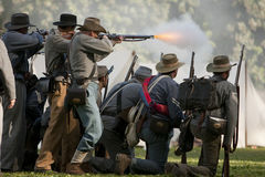 Rimessa in vigore di guerra civile Immagini Stock