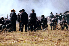 Rimessa in vigore di guerra civile a Olustee, Florida Fotografia Stock