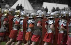 Rimessa in vigore militare romana Fotografia Stock